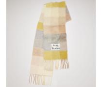 Gelb/Grau Multi Check Schal