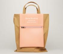 Braun/Rosa Einkaufstasche
