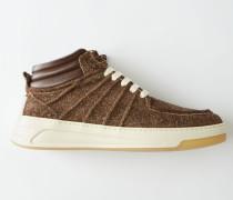 Bartos Hairy M Braun/Weiß Mittelhohe Sneakers
