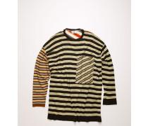 Beige/Multi Pullover mit Allover-Streifen