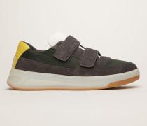 Perey Nylon Grün/Grau/Eis Sneakers mit Kontrasteinsatz und Klettverschluss