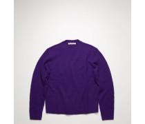 Pilled wool blend sweater