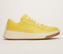 Steffey Lace Up Gelb/Weiß Sneakers zum Schnüren