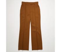 Ausgestellte Hose aus Woll-Mix