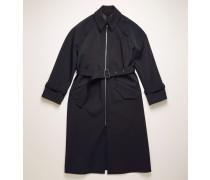 Marineblau/Khaki Trenchcoat mit Reißverschluss vorne