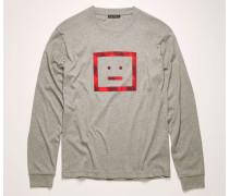 T-Shirt mit langen Ärmeln und Face-Motiv