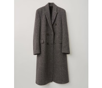 Grau/Dunkelgrau Zweireihiger Mantel