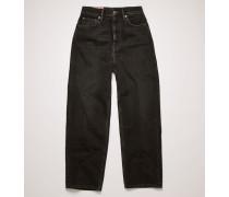 1993 Vintage Black Schmal zulaufende Jeans in lockerer Passform