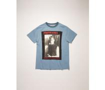 T-Shirt mit Magazine-Print