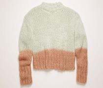 Pullover in Teilfärbung