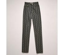 FN-WN-5PKT000002 Pinecone-jacquard denim trousers