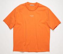T-Shirt mit gewendetem Logo