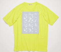 T-Shirt mit gesticktem Blumen-Aufnäher