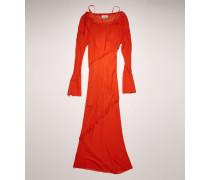 Schräg geschnittenes Kleid aus Georgette
