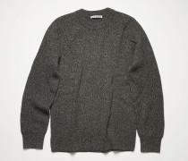 Melange ribbed sweater