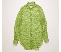 Chiffon-Hemd mit floralem Print