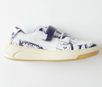 Steffey Map Weiß/Blau Sneakers mit Klettverschluss
