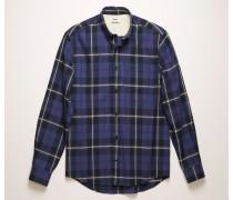 Marineblau/Rosa Kariertes Hemd mit kurzen Ärmeln