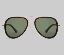 Sonnenbrille Pilotenmodell Schildpatt