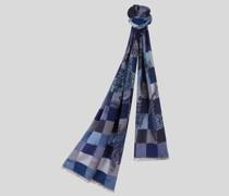 Jacquard-Schal mit Vichykaros und Paisley-Muster