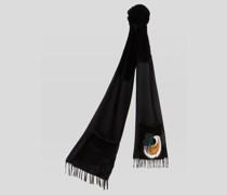 Schal aus Kaschmir und Pelz
