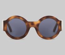 Runde Sonnenbrille Schildpatt