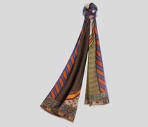 Schal mit Pegaso Patchwork-Print