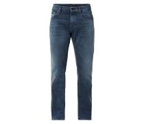 Regular Fit Jeans mit Logo-Details  Modell 'Maine'