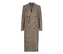 Overcoat Aus Tweed Mit Fischgrätenmuster