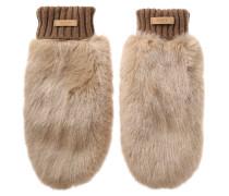 Handschuhe mit Fake-Fur-Besatz