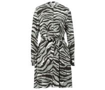 Hemdblusenkleid mit Zebraprint