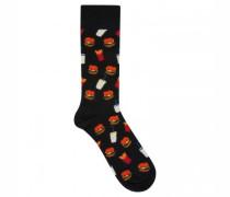 Socken mit Burger-Motiv