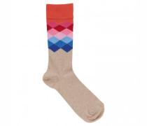 Socken mit Rautenmuster