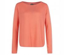 Cashmere-Pullover mit abgerundetem Saum