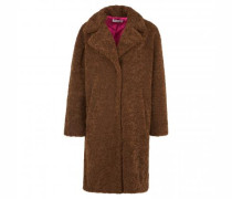 Mantel in Teddyfell-Optik