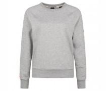 Sweatshirt mit Flock-Print