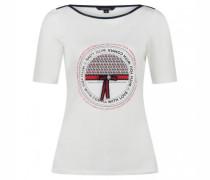 T-Shirt mit Print und Schleifen-Detail