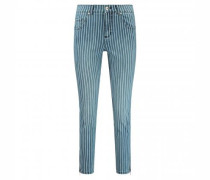 7/8 Skinny-Fit Jeans mit Zipperdetails