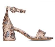 Sandaletten mit Reptilien-Muster
