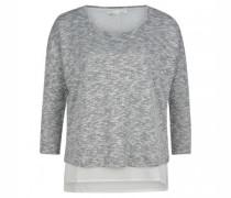 Strick-Shirt mit Silberfäden