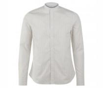 Slim-Fit Hemd mit leichtem Streifenmuster