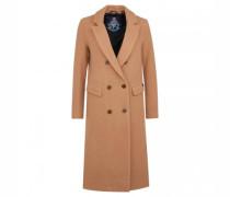Doppelreihiger Mantel mit Wollanteil