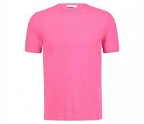 Frottee T-Shirt mit Rundhalsausschnitt