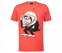 T-Shirt mit frontalen Druck