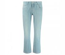 7/8 Straight Leg Jeans mit Streifenmuster