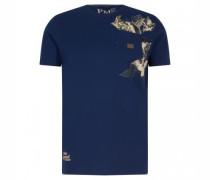 T-Shirt mit Brusttasche und Print