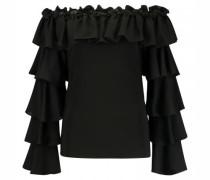 Shirt mit Rüschen und Carmen-Ausschnitt