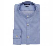 Slim-Fit Hemd mit Stehkragen