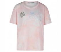 T-Shirt mit Stickerei und Zierperlen