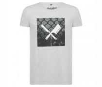 T-Shirt 'Cage Blades' mit Print